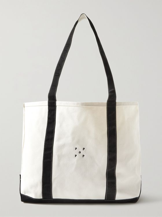 POP TRADING COMPANY + Miffy Logo-Embroidered Cotton-Canvas Tote Bag