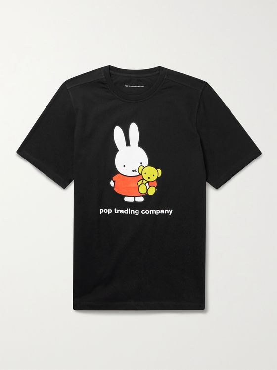 POP TRADING COMPANY + Miffy Logo-Print Cotton-Jersey T-Shirt