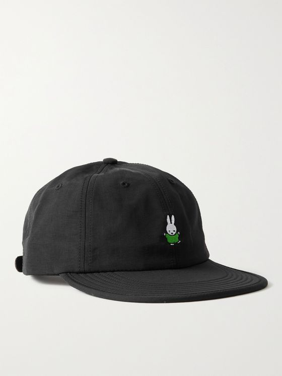 POP TRADING COMPANY + Miffy Logo-Appliquéd Shell Baseball Cap