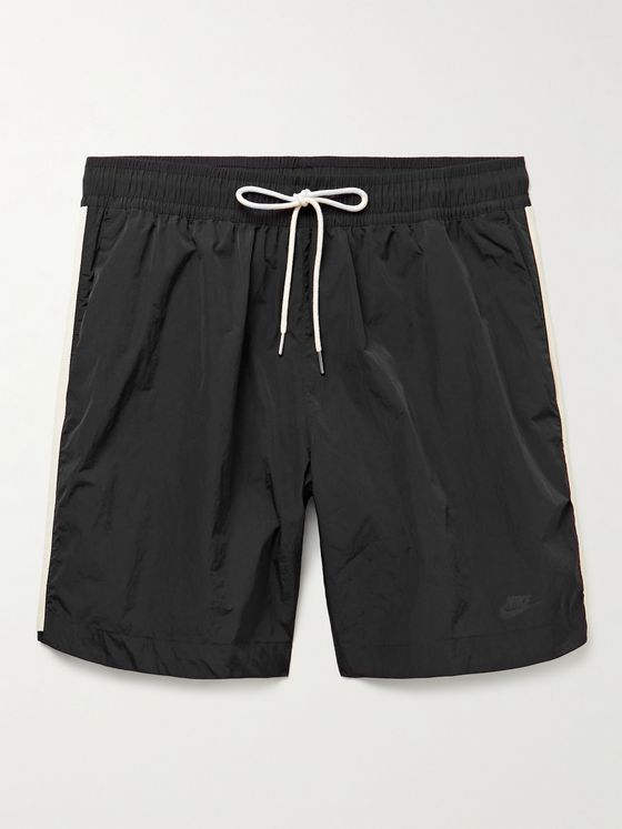 NIKE Sportswear Twill-Trimmed Nylon Drawstring Shorts