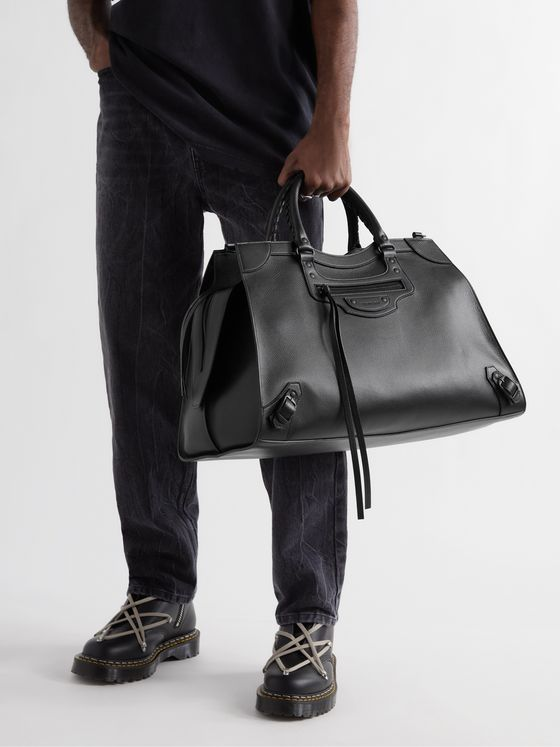 BALENCIAGA Full-Grain Leather Duffle Bag