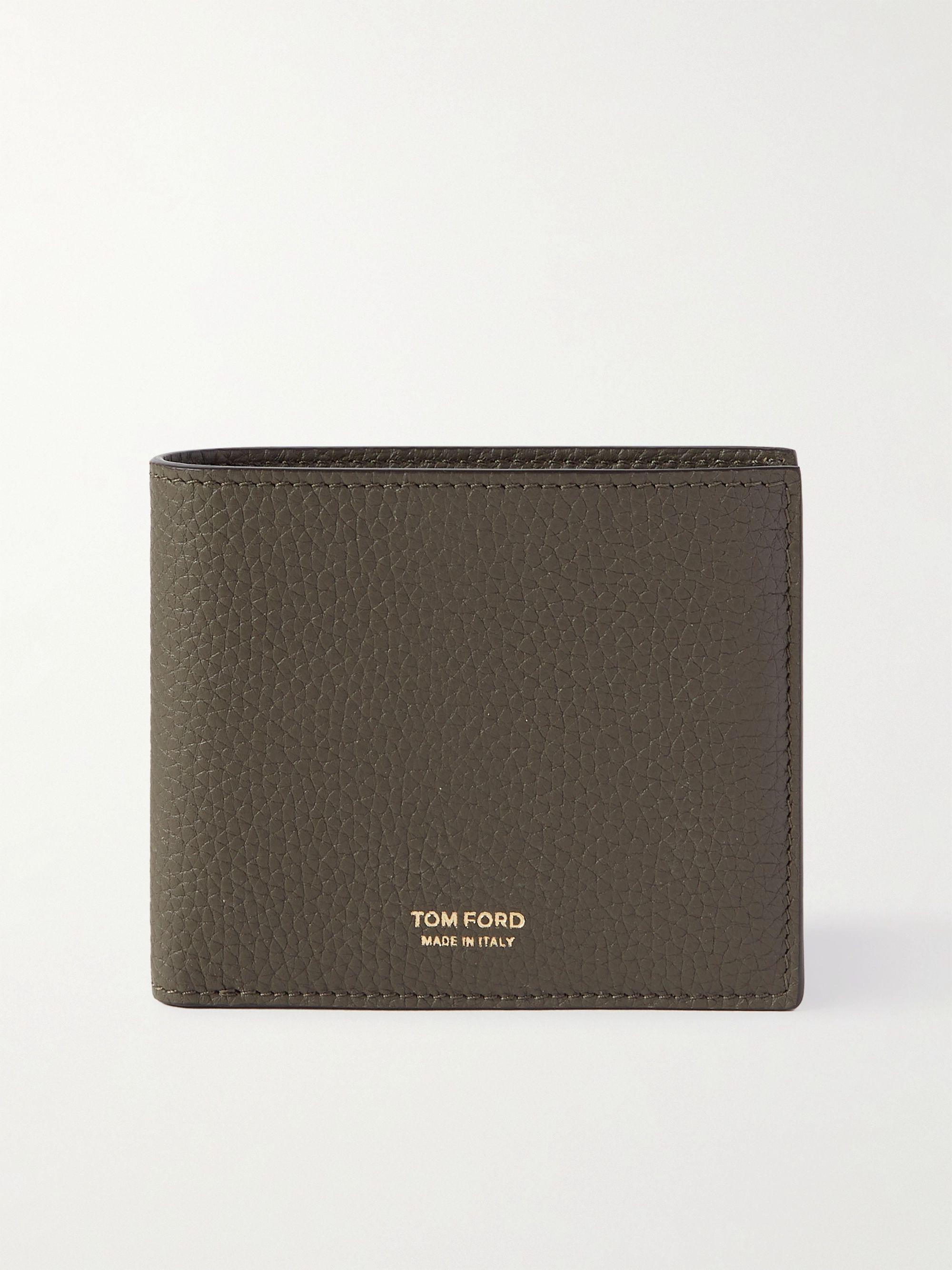톰 포드 반지갑 Tom Ford Full-Grain Leather Billfold Wallet,Green