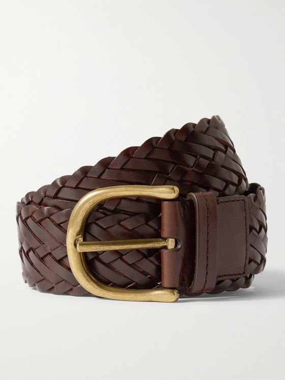 TOM FORD 4cm Woven Leather Belt