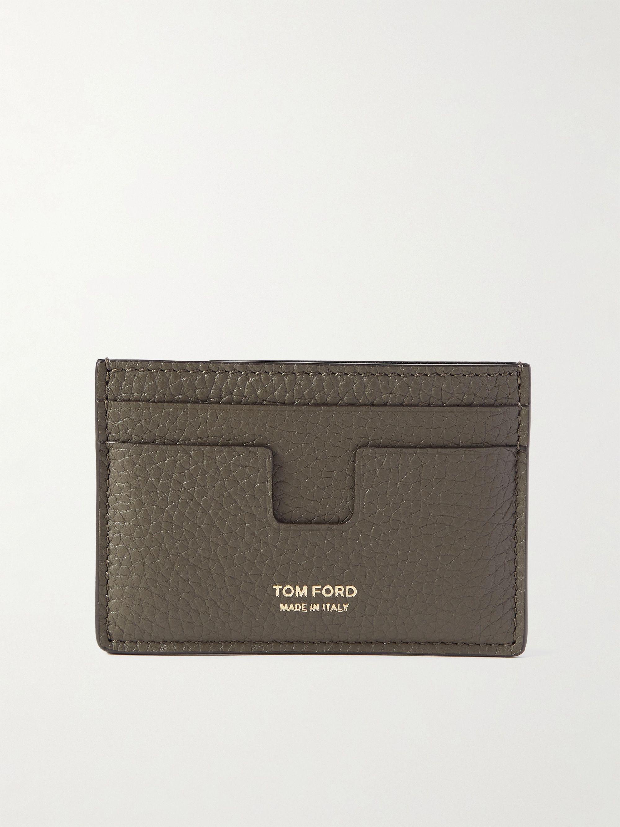 톰 포드 카드 지갑 Tom Ford Full-Grain Leather Cardholder,Green
