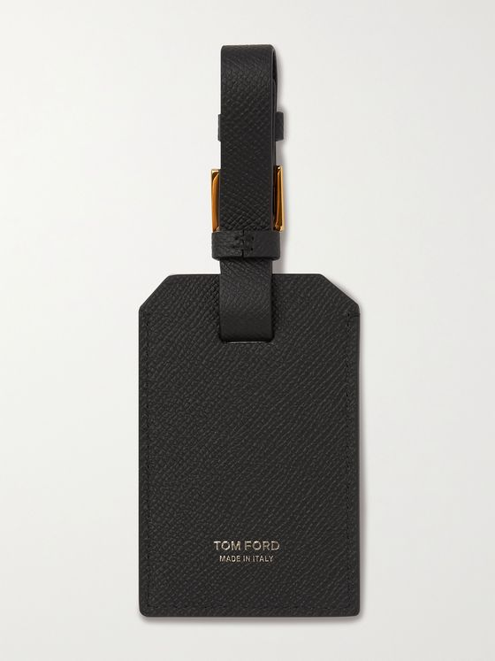 TOM FORD Full-Grain Leather Luggage Tag