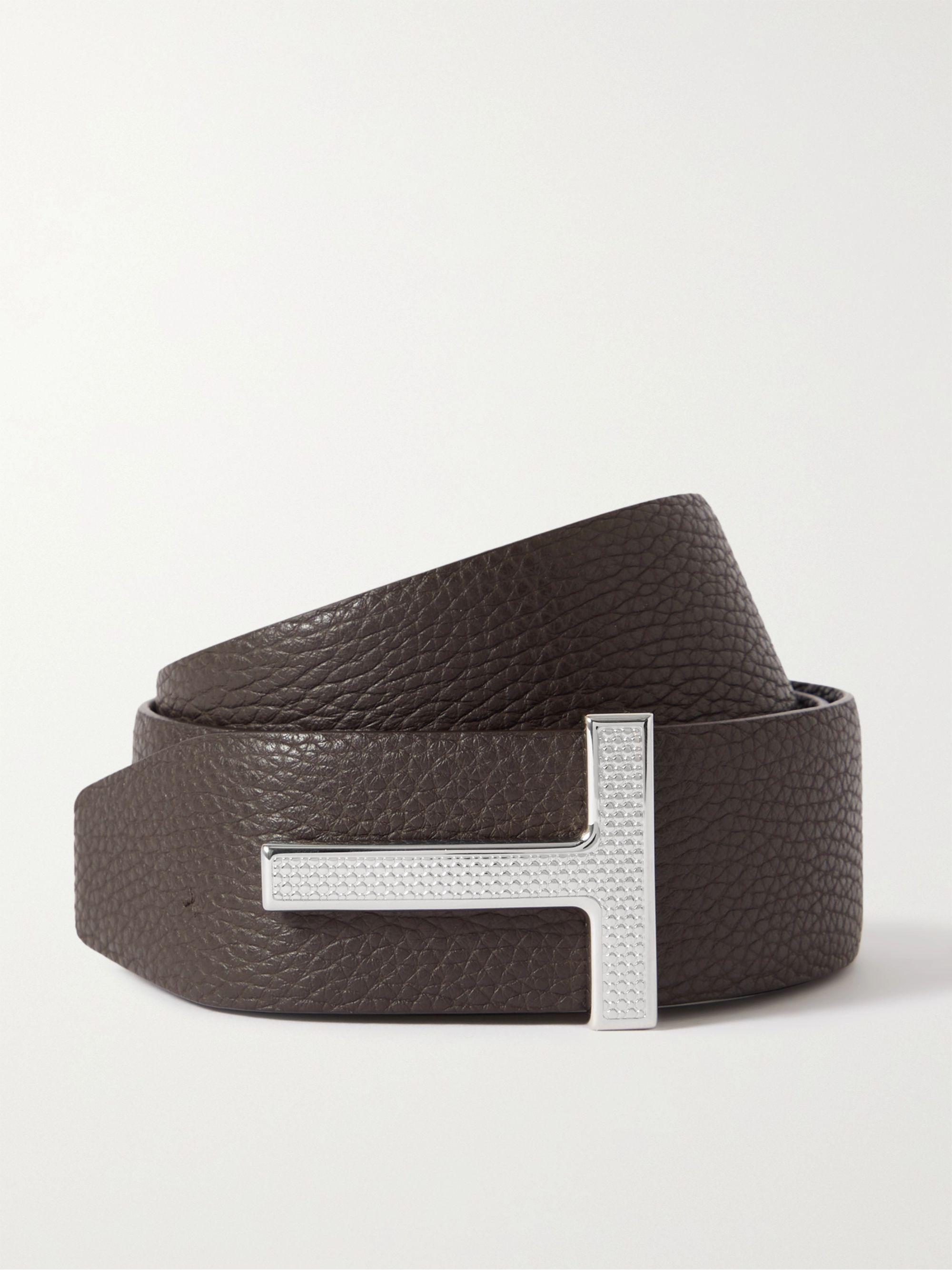 톰 포드 벨트 Tom Ford 4cm Reversible Full-Grain Leather Belt,Brown