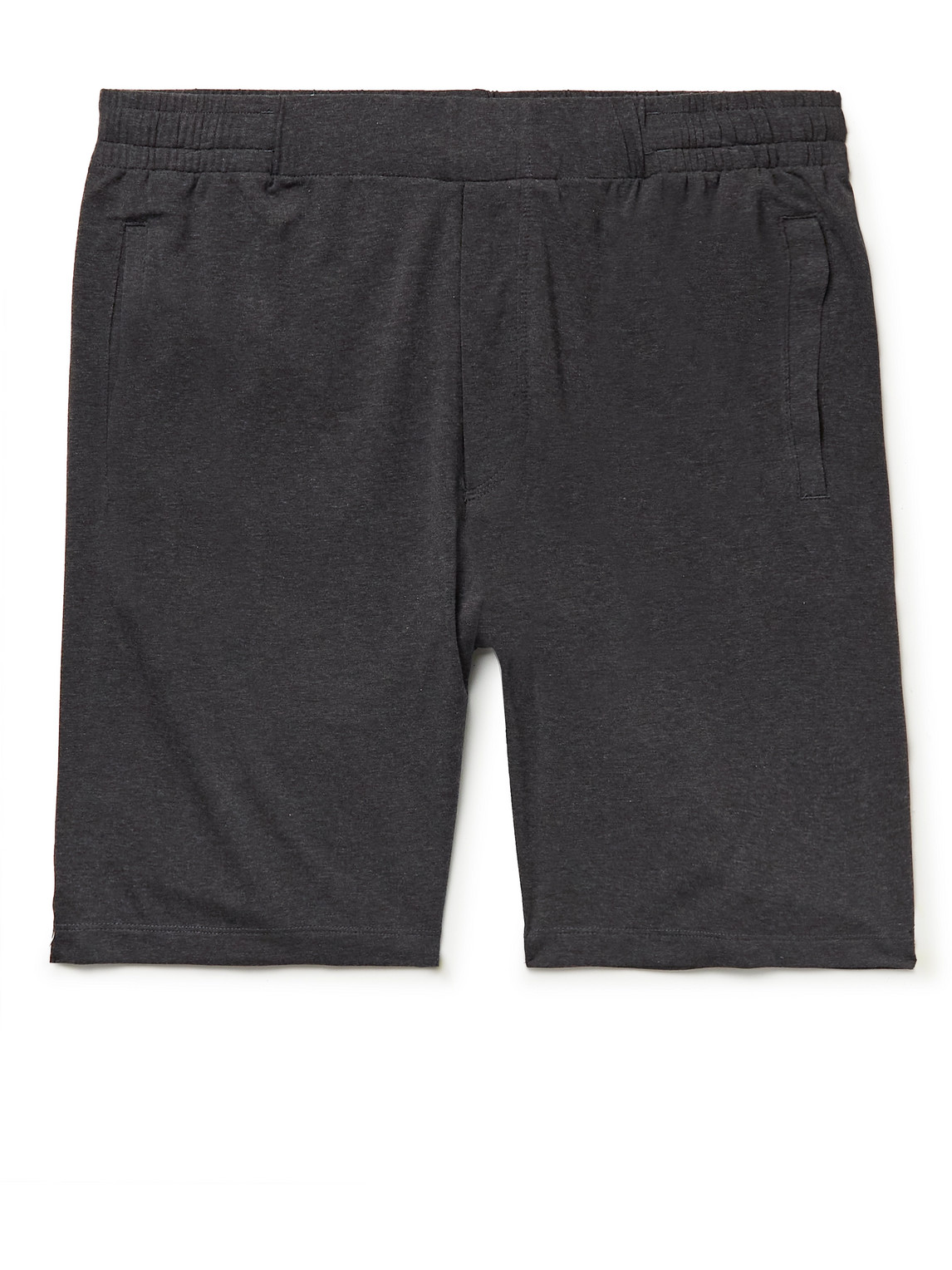 Hamilton And Hare Stretch Lyocell And Cotton-blend Pyjama Shorts In Gray