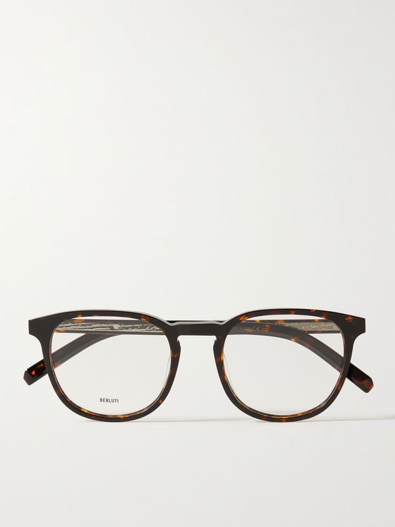 BERLUTI Round-Frame Tortoiseshell Acetate Optical Glasses