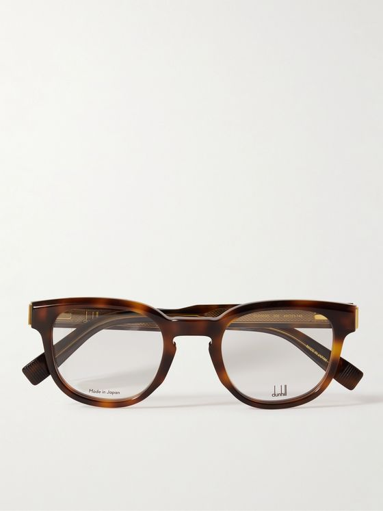 DUNHILL Square-Frame Tortoiseshell Acetate and Gold-Tone Optical Glasses