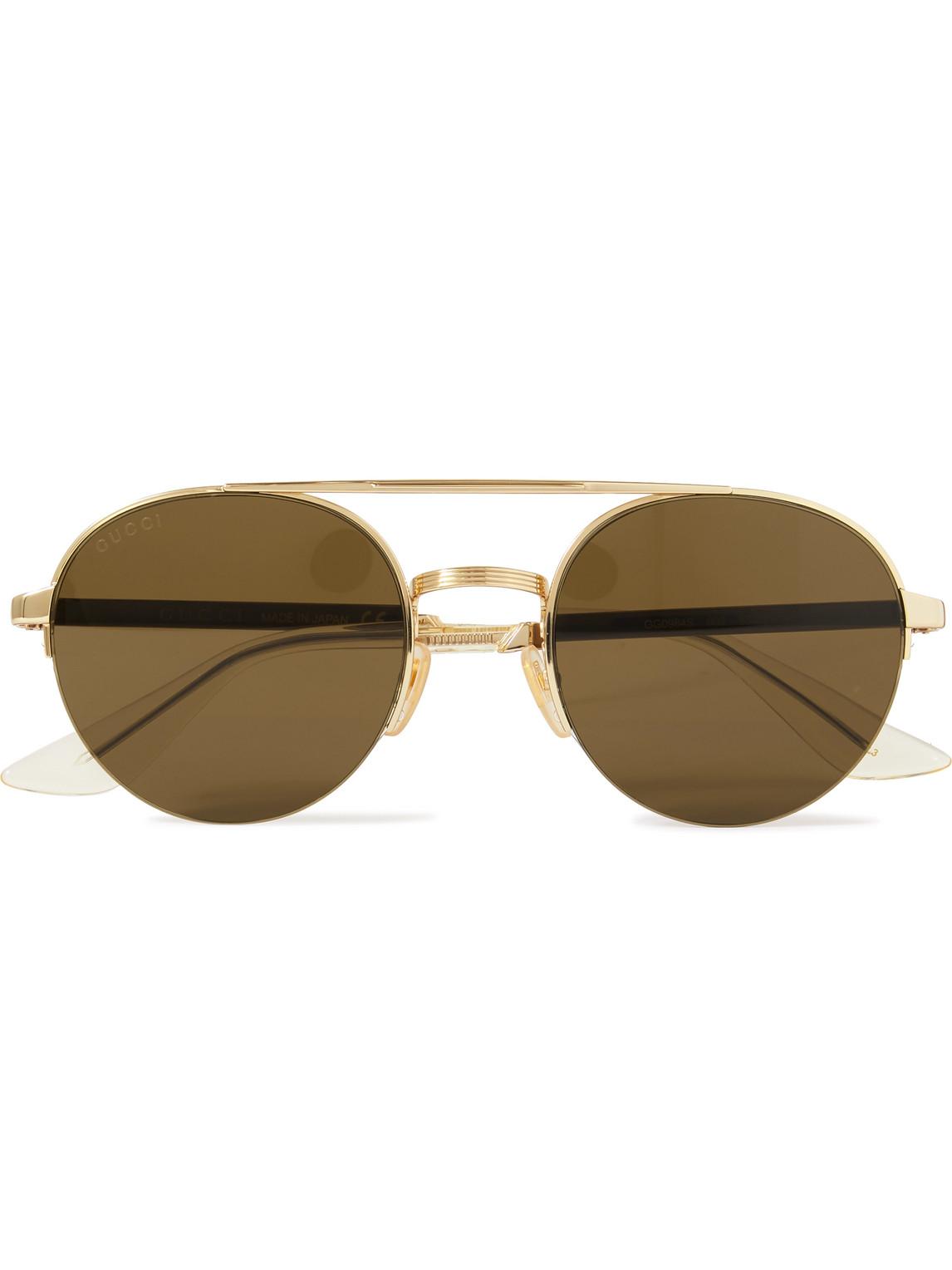 Gucci - Aviator-Style Gold-Tone Sunglasses - Men - Gold