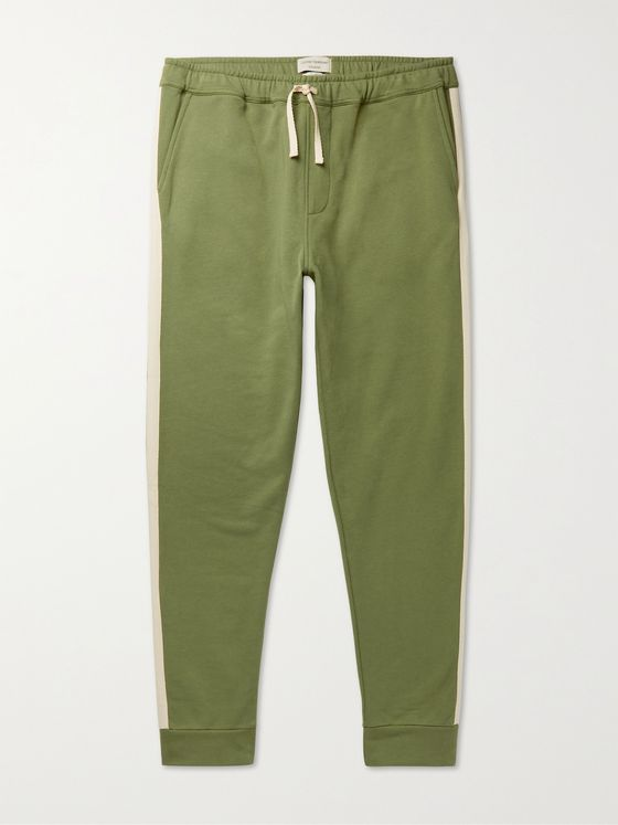 OLIVER SPENCER LOUNGEWEAR Harris Tapered Organic Fleece-Back Cotton-Jersey Sweatpants