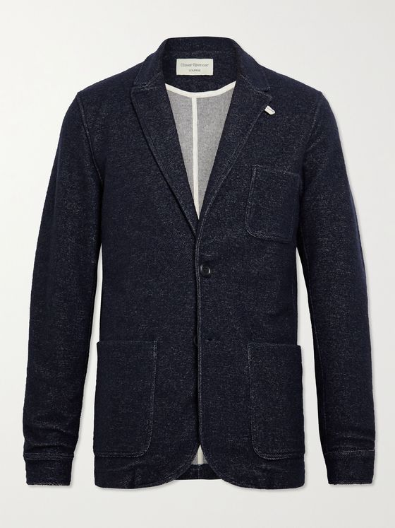 OLIVER SPENCER LOUNGEWEAR Birch Unstructured Mélange Knitted Blazer