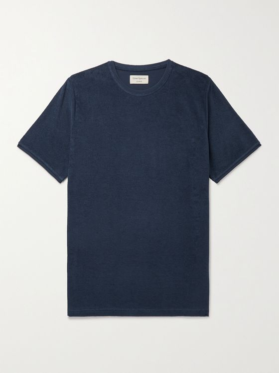 OLIVER SPENCER LOUNGEWEAR Ashbourne Cotton-Blend Terry T-Shirt