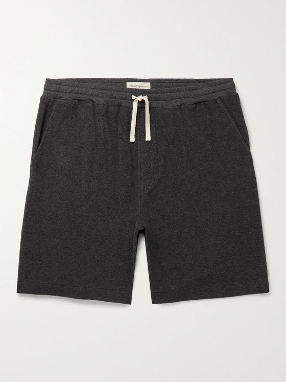OLIVER SPENCER LOUNGEWEAR Ashbourne Cotton-Blend Terry Drawstring Shorts