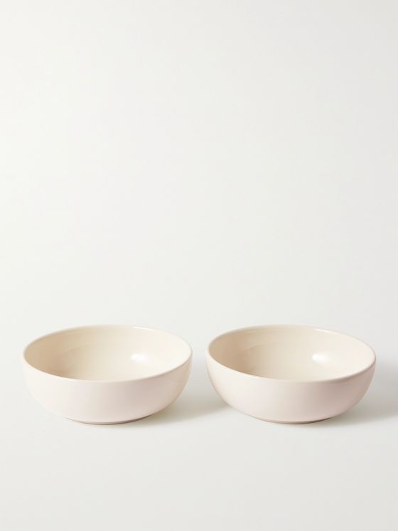 R+D.LAB Set of Two Large Bilancia Glazed Ceramic Bowls