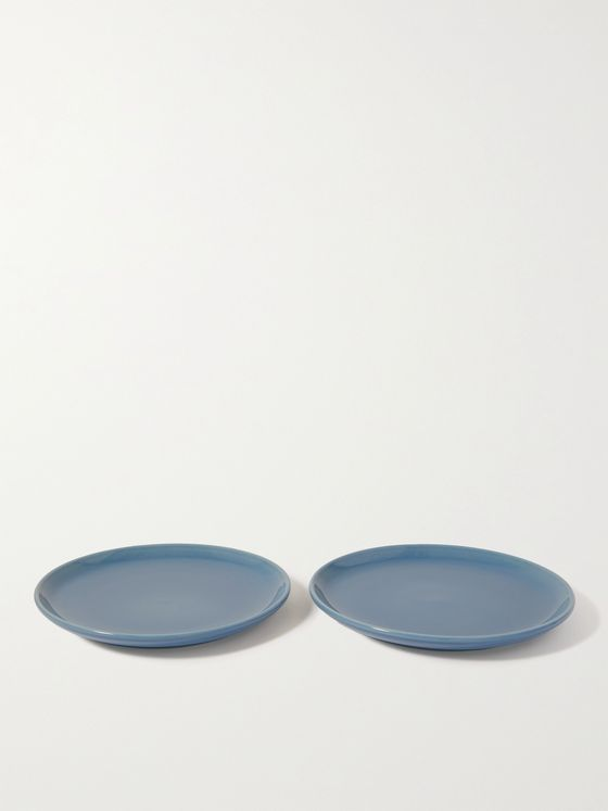 R+D.LAB Set of Two Large Bilancia Glazed Ceramic Plates