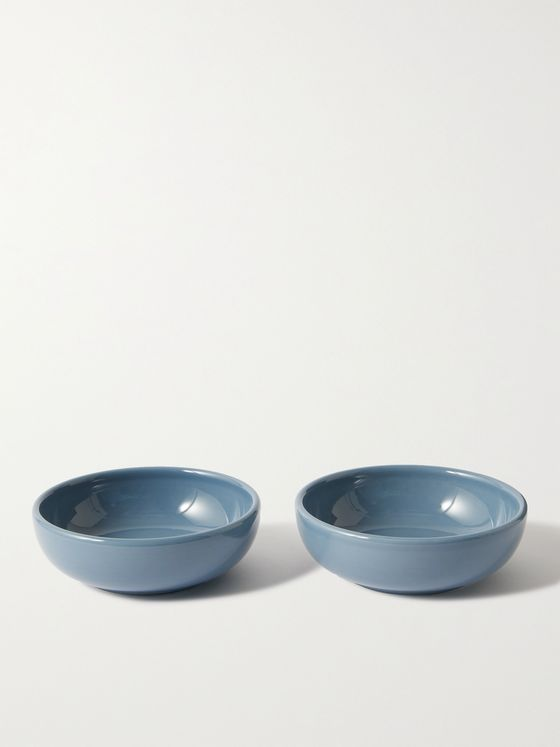 R+D.LAB Set of Two Small Bilancia Glazed Ceramic Bowls