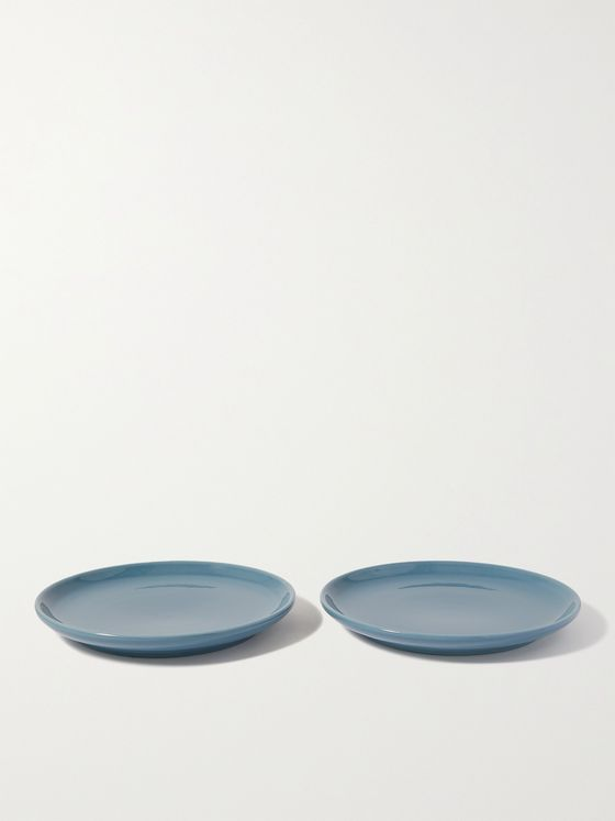 R+D.LAB Set of Two Small Bilancia Glazed Ceramic Plates