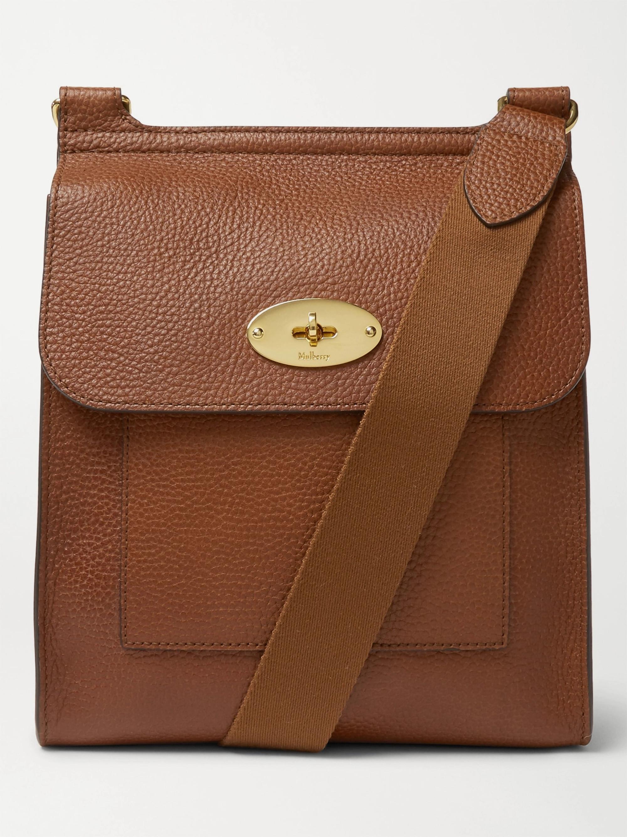 40564db77 Tan Antony Full-Grain Leather Messenger Bag   Mulberry   MR PORTER