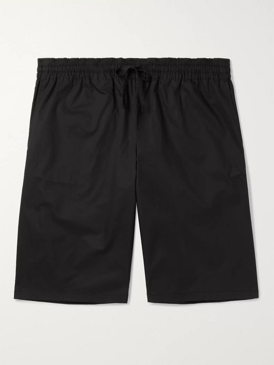Bottega Veneta Wide-Leg Cotton-Blend Twill Drawstring Shorts