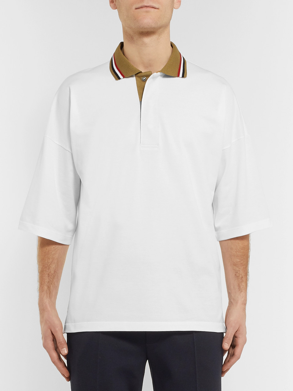 Bottega Veneta Contrast-Tipped Organic Cotton-Piqué Polo Shirt