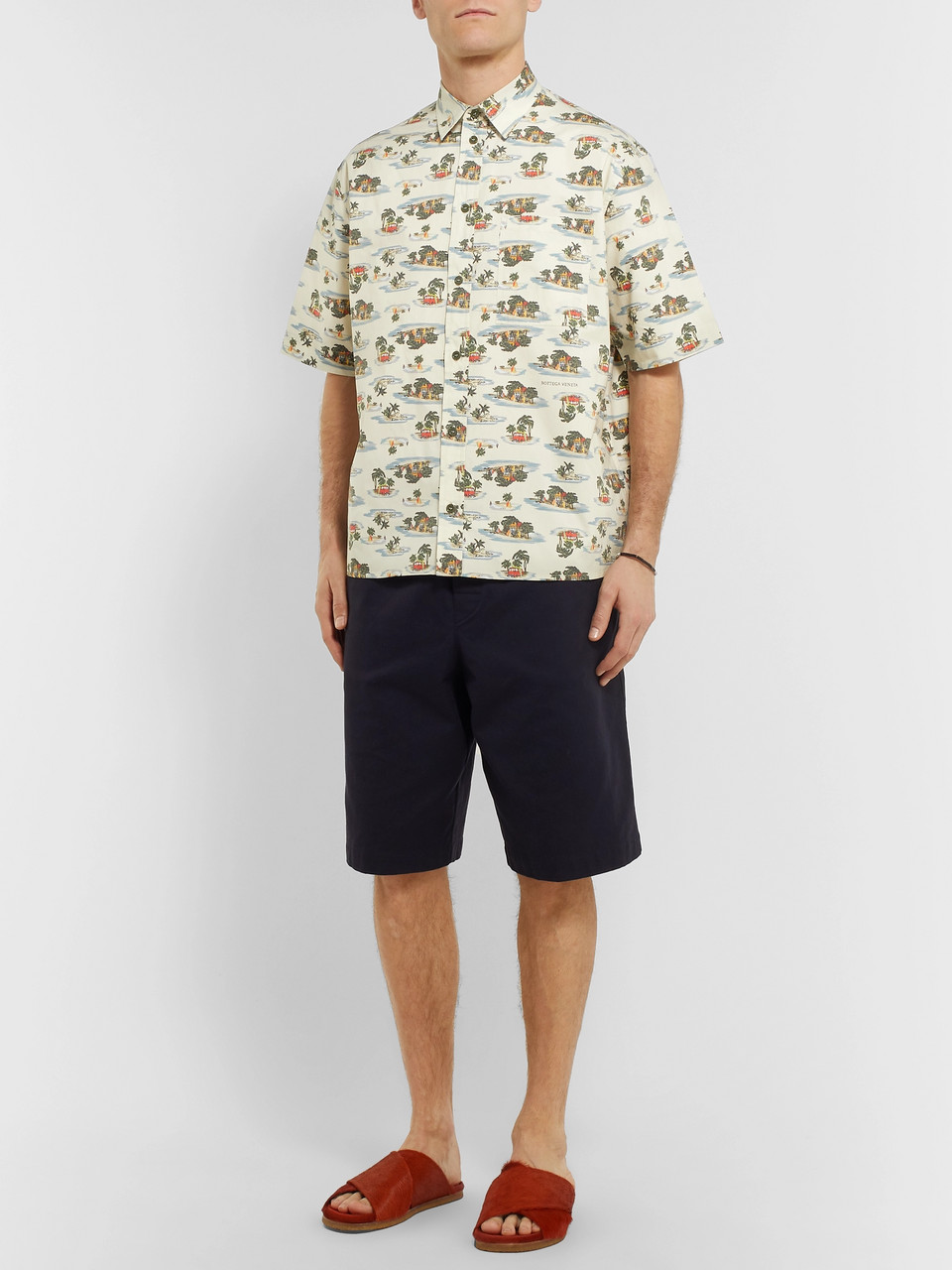 Bottega Veneta Printed Cotton-Poplin Shirt