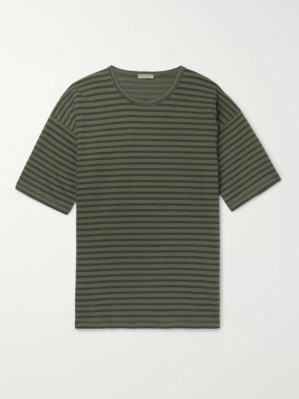 Bottega Veneta Striped Cotton-Jersey T-Shirt