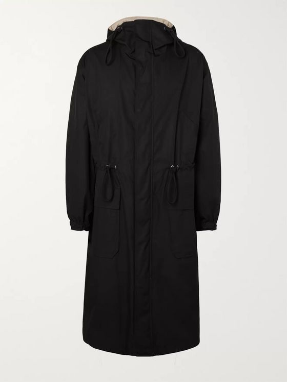 Bottega Veneta Oversized Reversible Cotton-Faille Hooded Coat