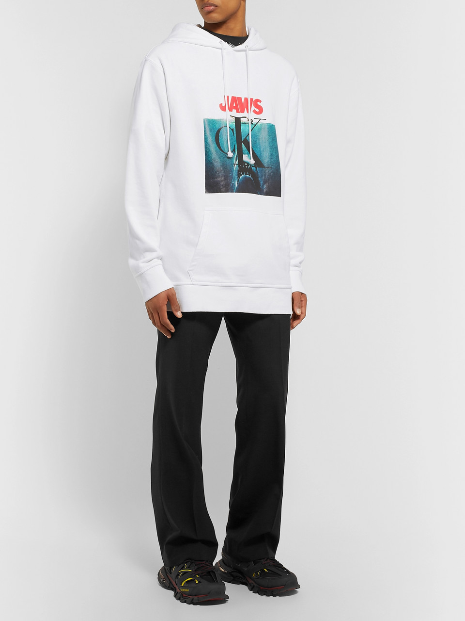 CALVIN KLEIN 205W39NYC Oversized Printed Loopback Cotton-Jersey Hoodie