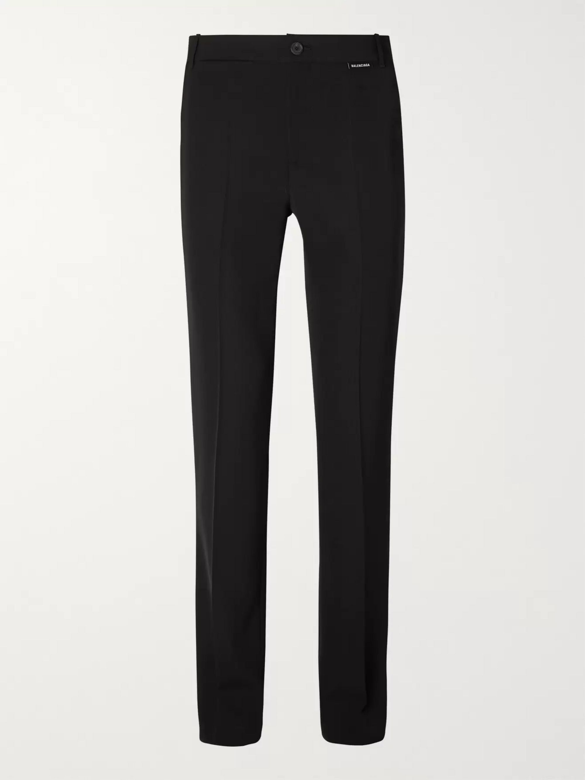 Balenciaga Black Twill Suit Trousers