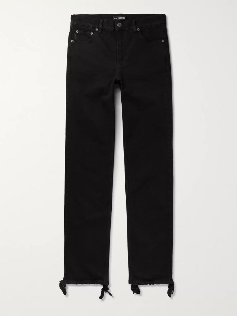 Balenciaga Skinny-Fit Distressed Stretch-Denim Jeans