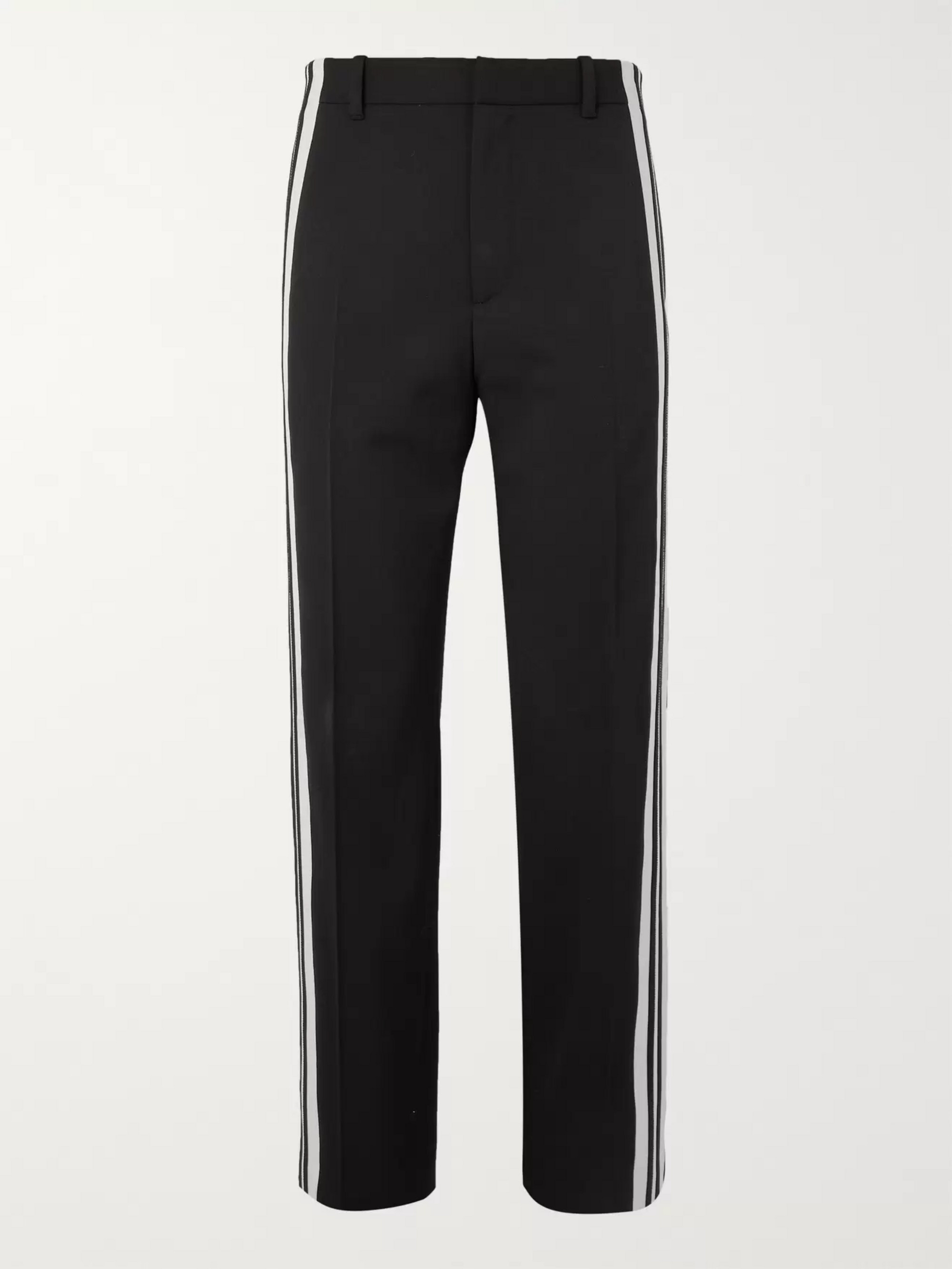 Balenciaga Striped Twill Trousers