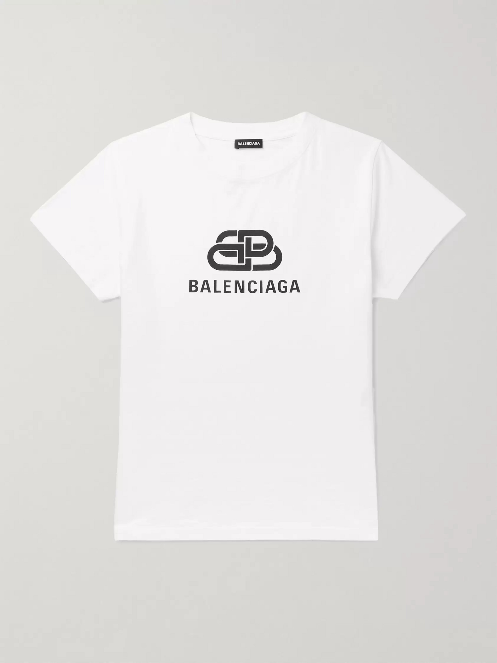 Balenciaga Slim-Fit Logo-Print Cotton-Jersey T-Shirt