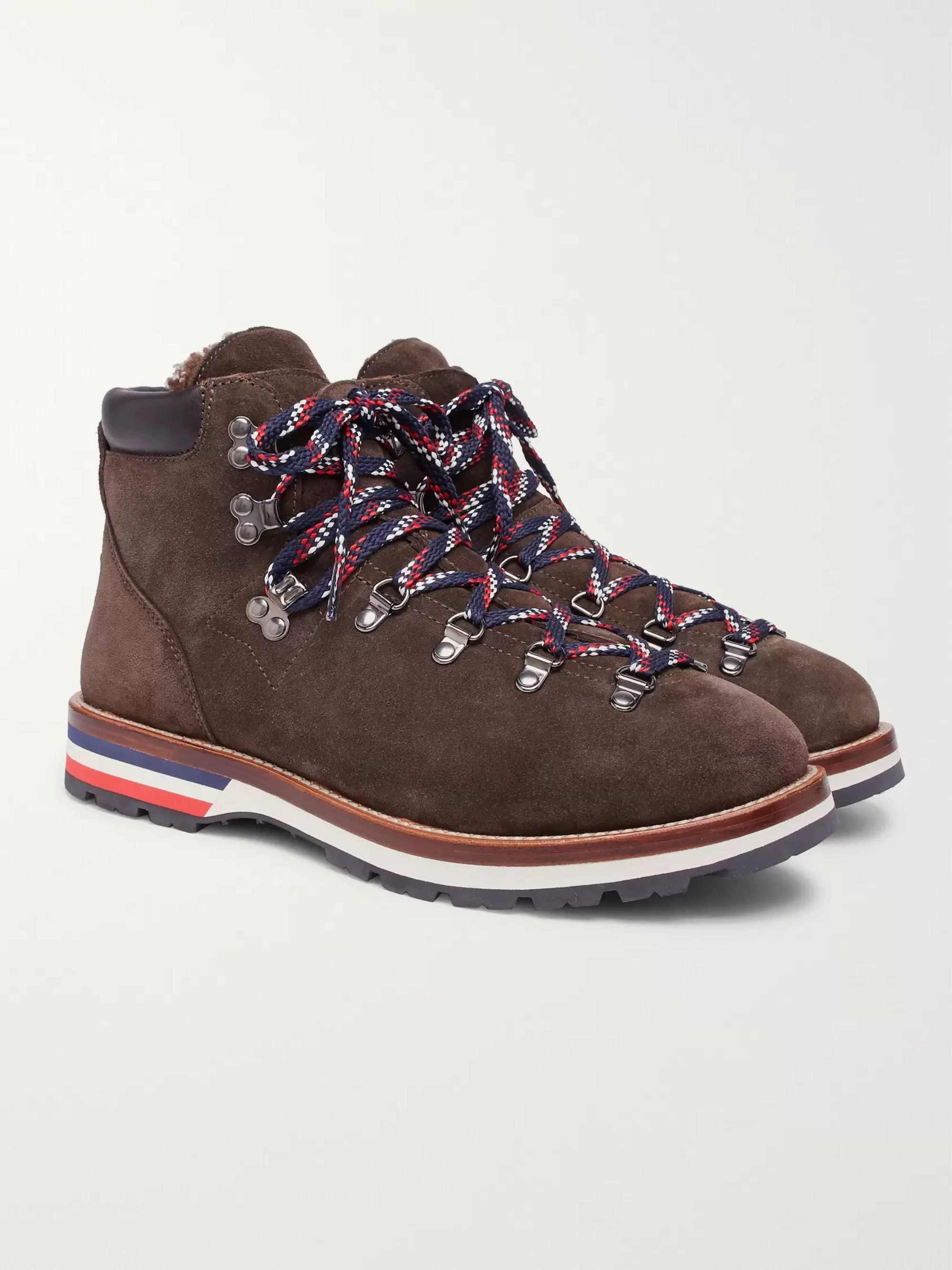 Moncler Peak Shearling-Lined Suede Boots