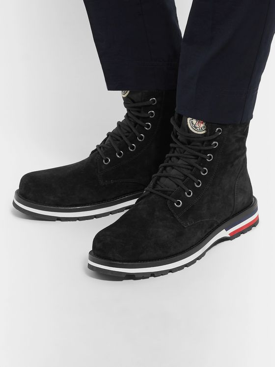 Moncler New Vancouver Shearling-Lined Suede Boots