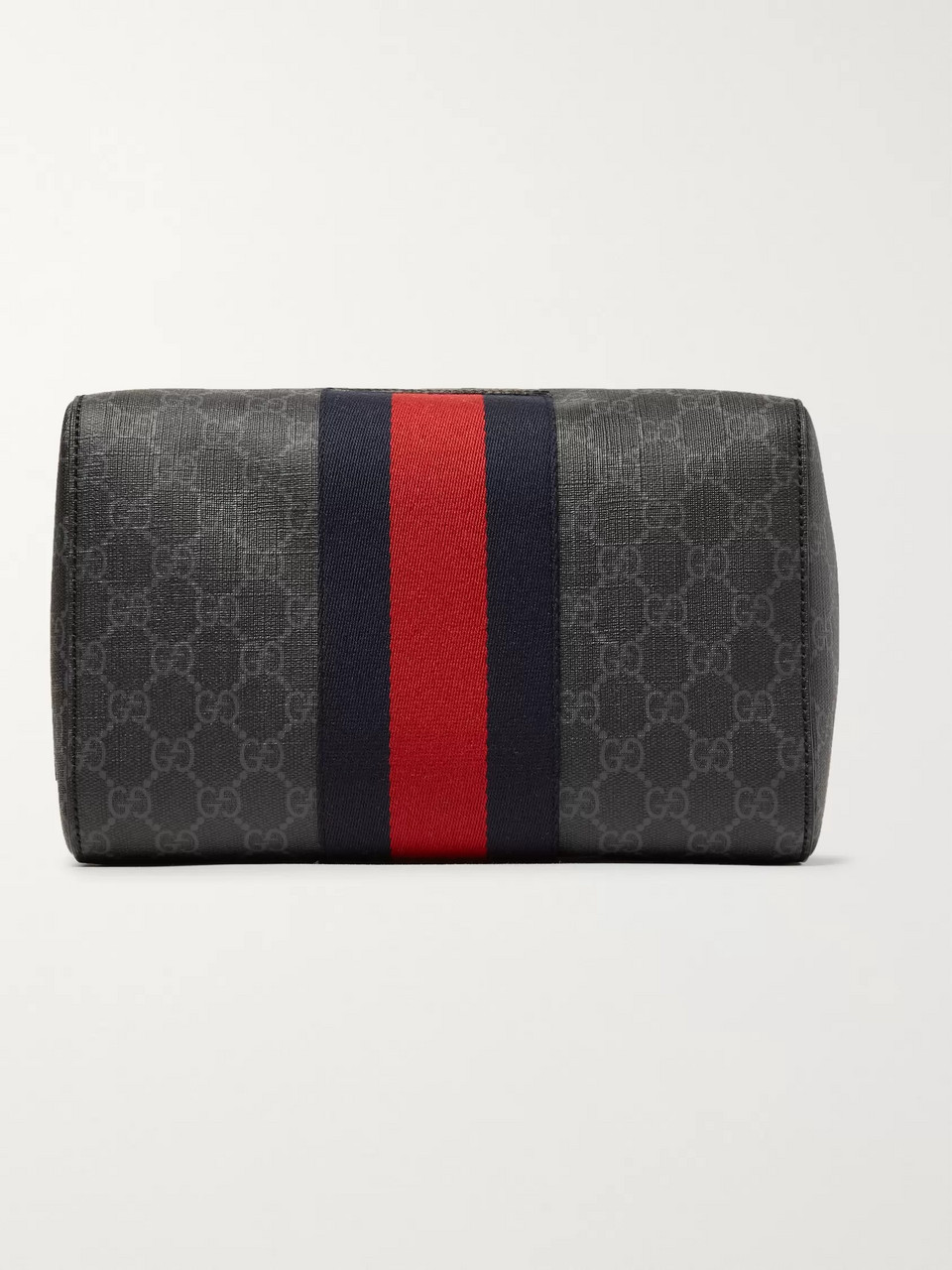 Gucci Monogrammed Coated-Canvas Wash Bag