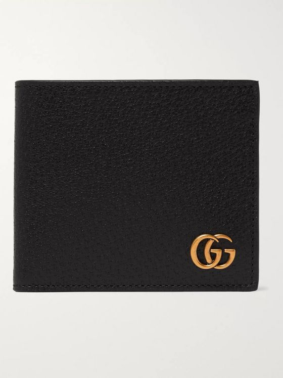 Gucci Marmont Full-Grain Leather Billfold Wallet