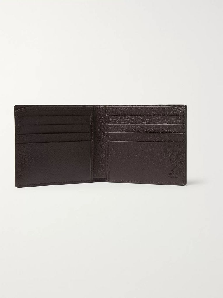 5bbb78d375 Textured-Leather Billfold Wallet