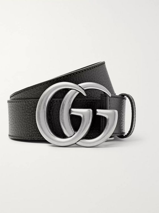 Gucci 4cm Black Full-Grain Leather Belt