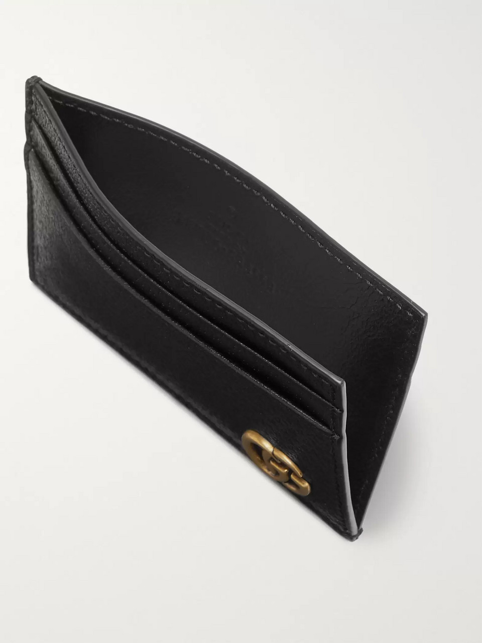 Gucci Marmont Full-Grain Leather Cardholder