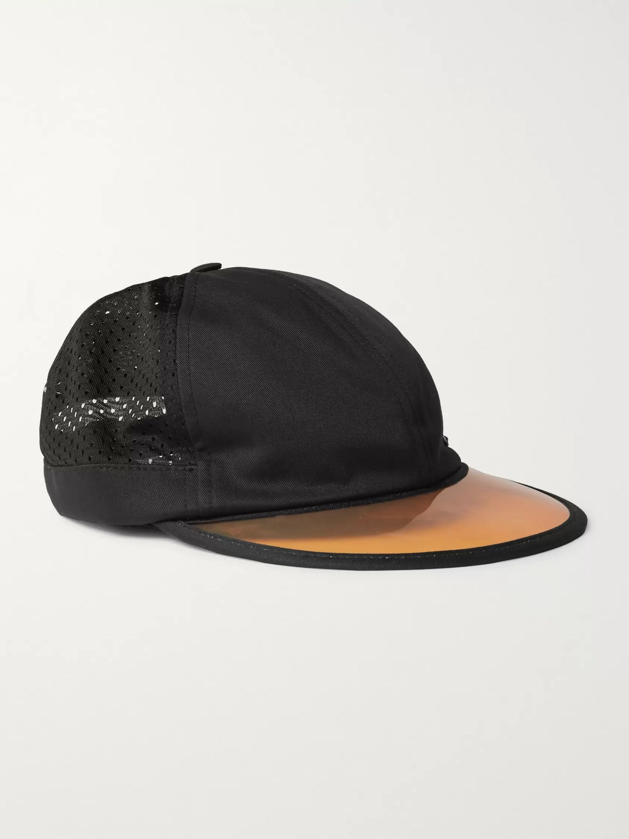 Gucci Embroidered Cotton-Twill and Mesh Baseball Cap