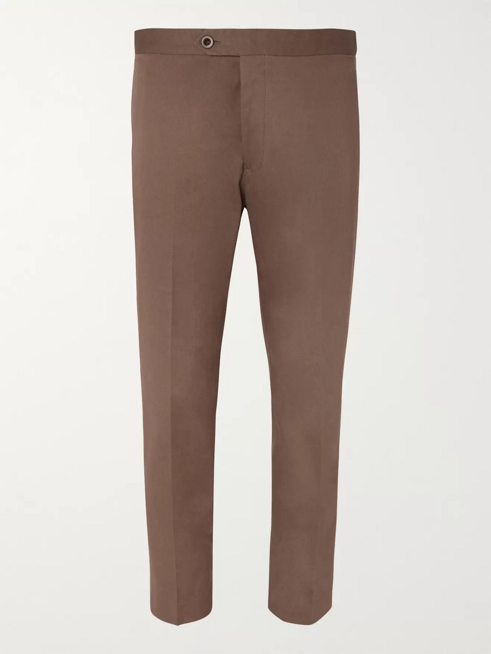 Mr P. Slim-Fit Cotton-Twill Cropped Trousers