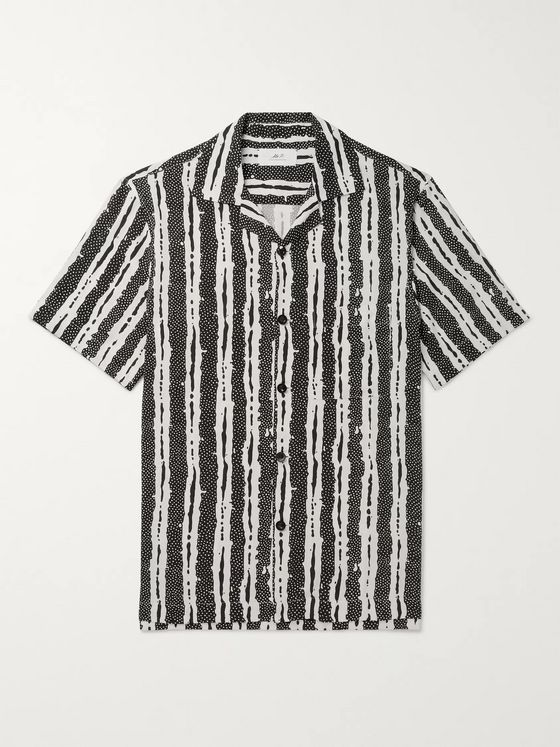 Mr P. Camp-Collar Printed Woven Shirt