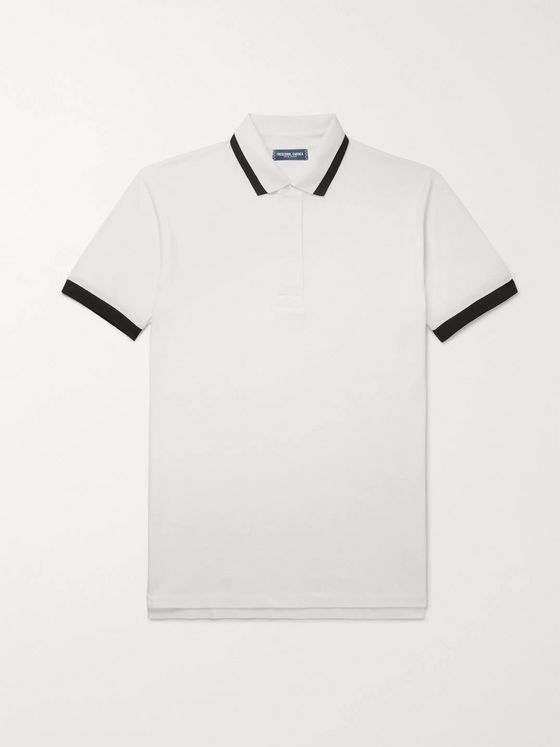 Frescobol Carioca Slim-Fit Contrast-Tipped Cotton-Piqué Polo Shirt