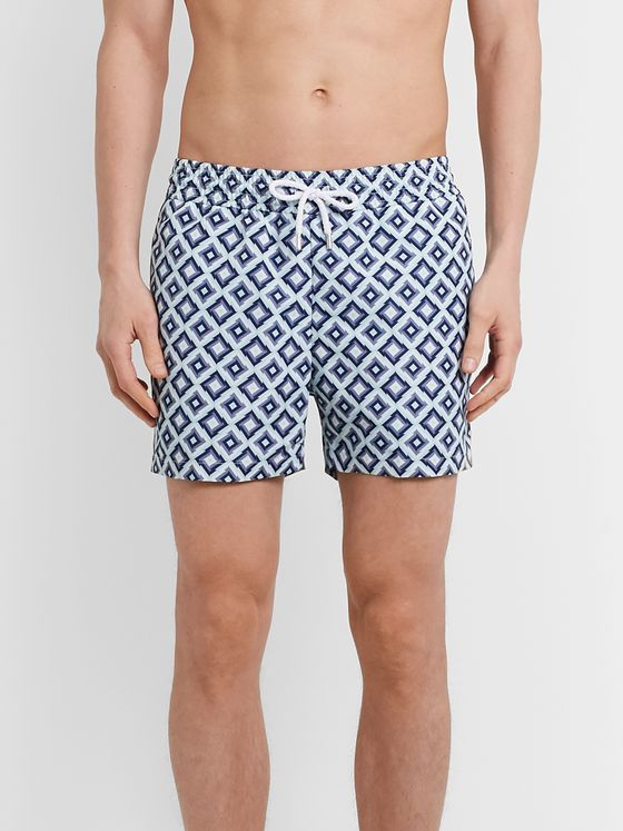 Frescobol Carioca Pangra Slim-Fit Mid-Length Printed Swim Shorts
