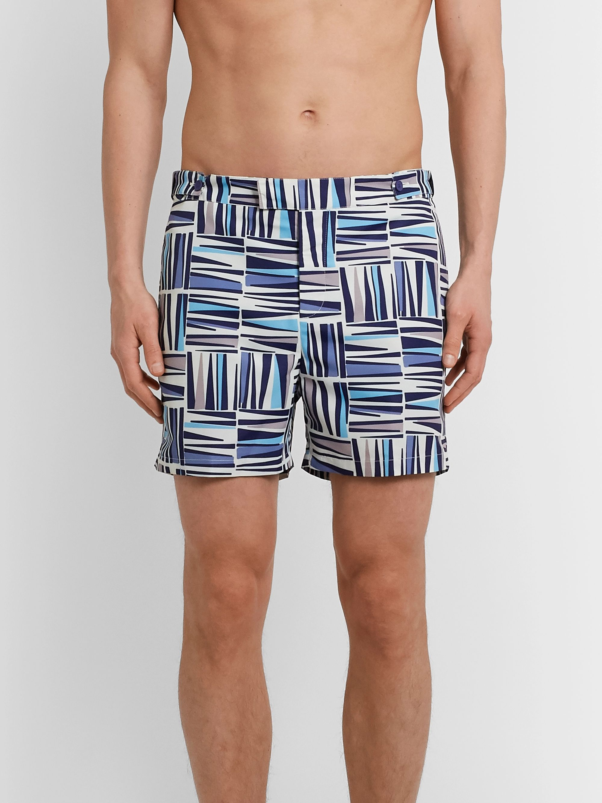 Frescobol Carioca Palm Slim-Fit Mid-Length Printed Swim Shorts