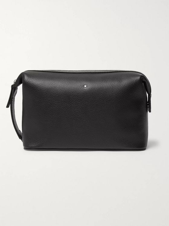 MONTBLANC Sartorial Jet Full-Grain Leather Wash Bag