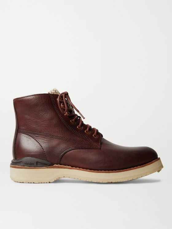 VISVIM Virgil Burnished-Leather Boots