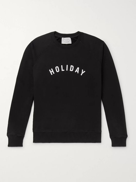 Holiday Boileau Logo-Print Loopback Organic Cotton-Jersey Sweatshirt