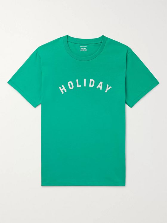 Holiday Boileau Slim-Fit Logo-Print Cotton-Jersey T-Shirt